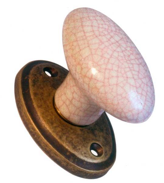 Pomo de porcelana oval colección roseta oval